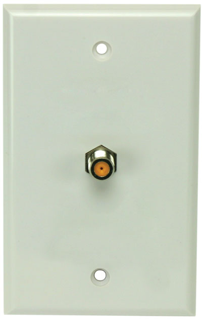 DIRECTV Approved White Wall Plate